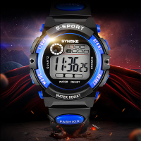 Sports Waterproof Black And Blue Kids Wrist Watch