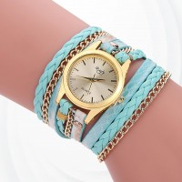 Party Wear Bracelet Band Analogue Wrist Watch - Blue
